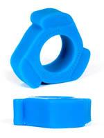 Burning Wheels 100% Silikon Cockring CK10 Blau