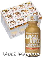 BOX JUNGLE JUICE GOLD LABEL TRIPLE DISTILLED - 12 x