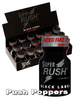 BOX SUPER RUSH BLACK - 18 x small