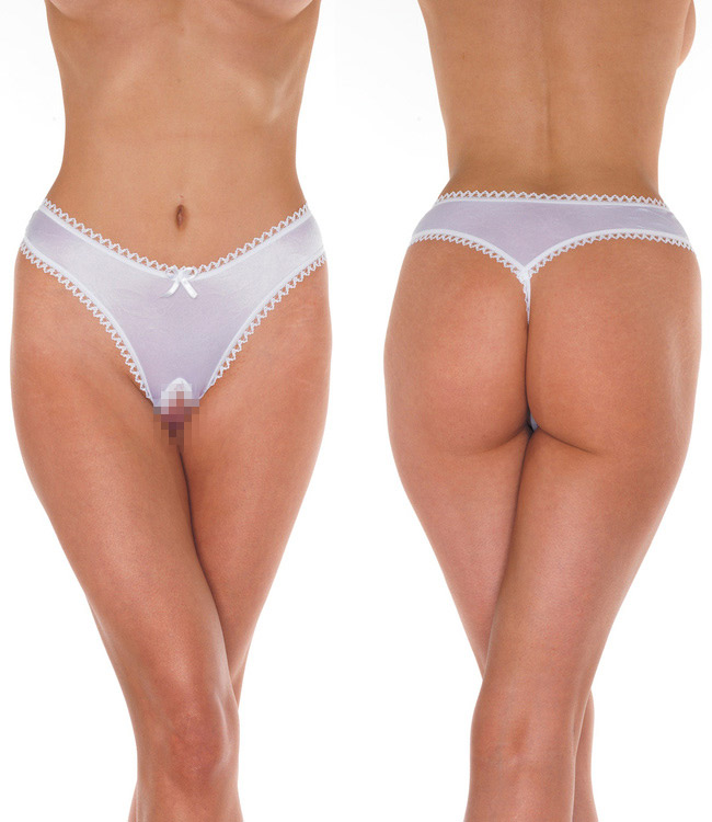 Open G-String - white - One size