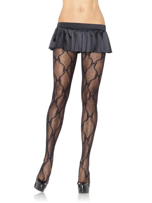 Leg Avenue - Bow Lace Pantyhose