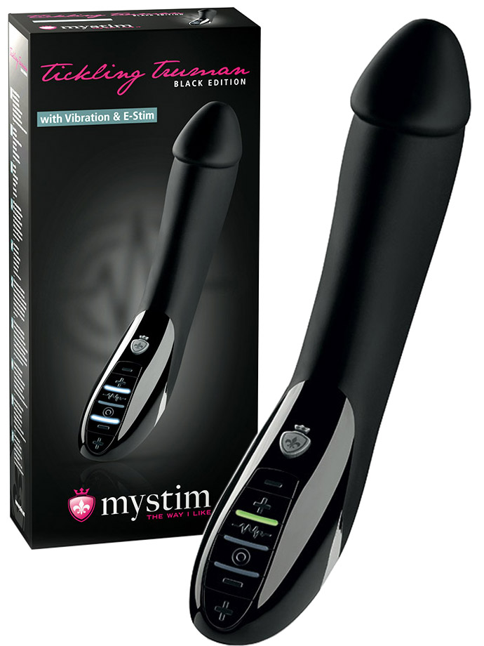 Mystim Tickling Truman E-Stim Vibe - Black Edition