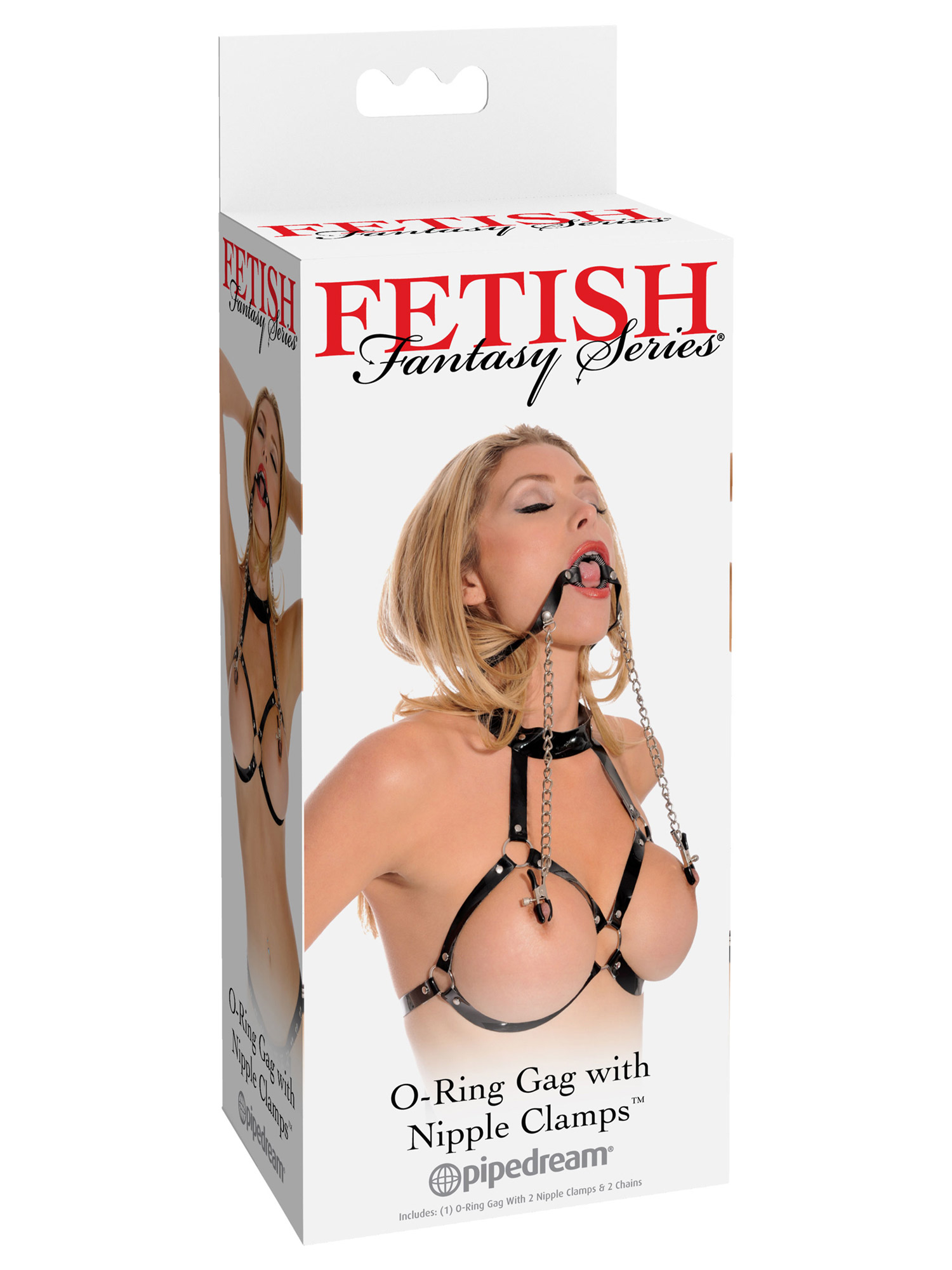 Fetish Fantasy - O-Ring Gag with Nipple Clamps