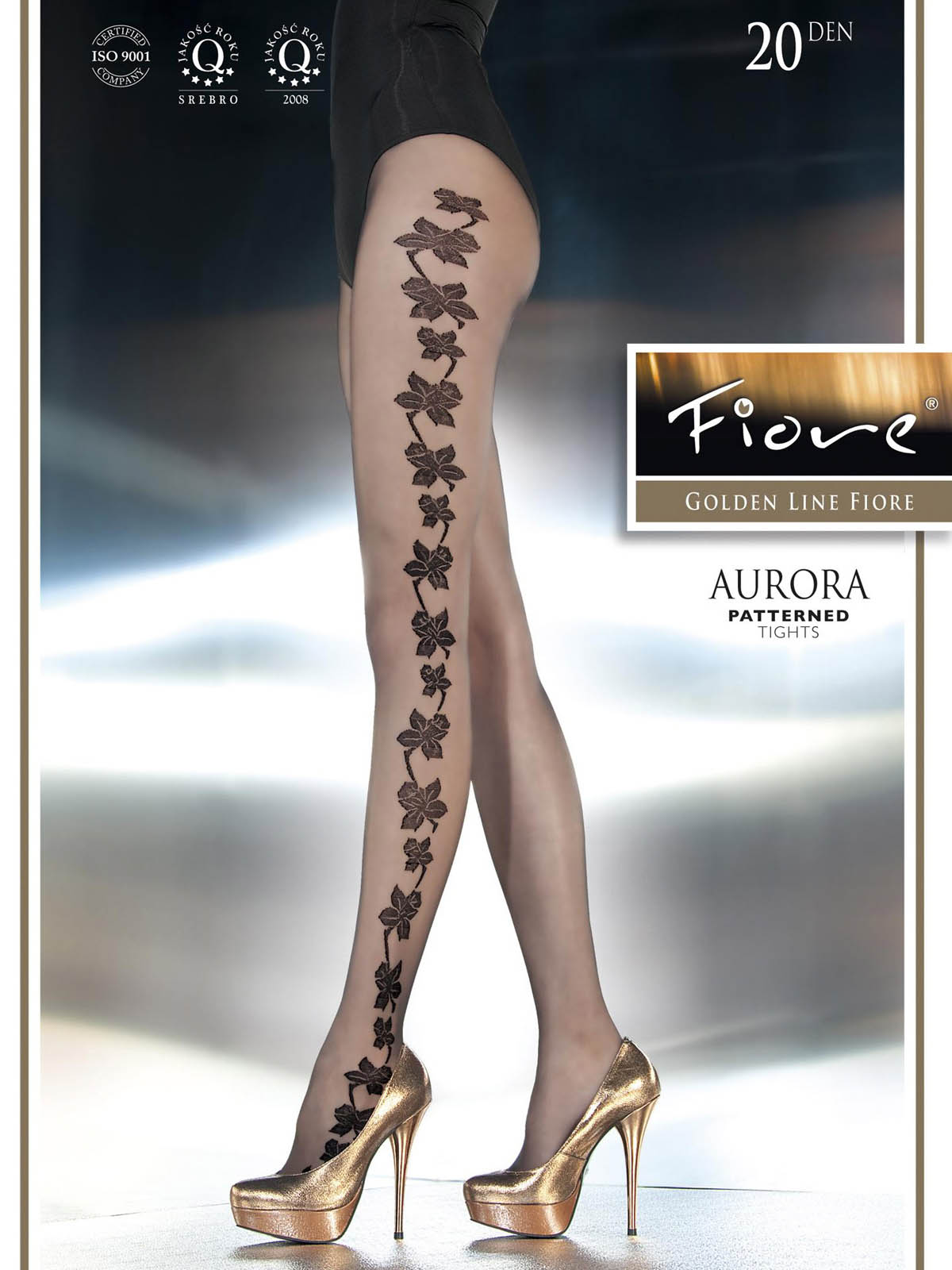 Fiore - Patterned Tights Aurora Black