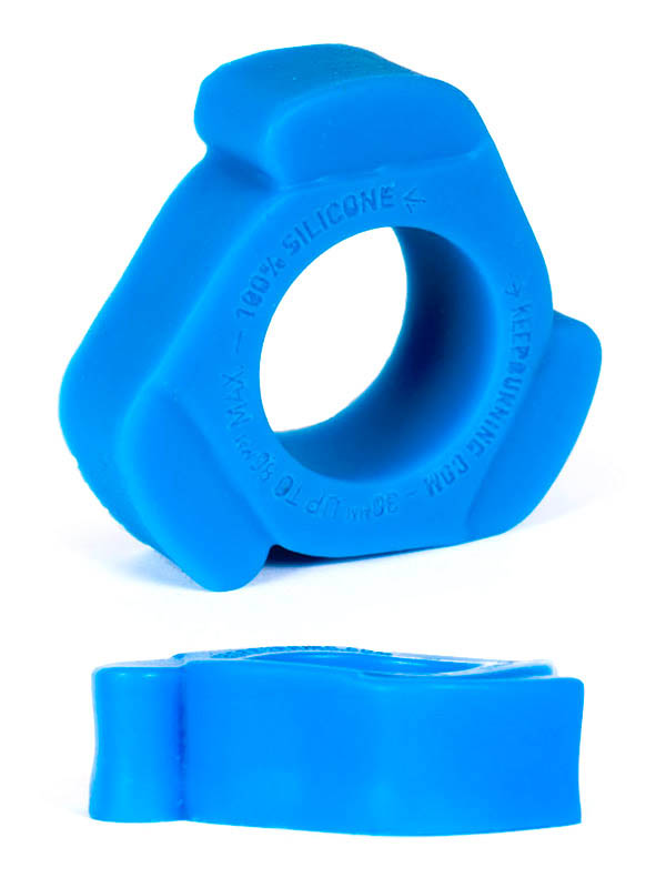 Burning Wheels 100% Silicone Cockring CK11 Blue