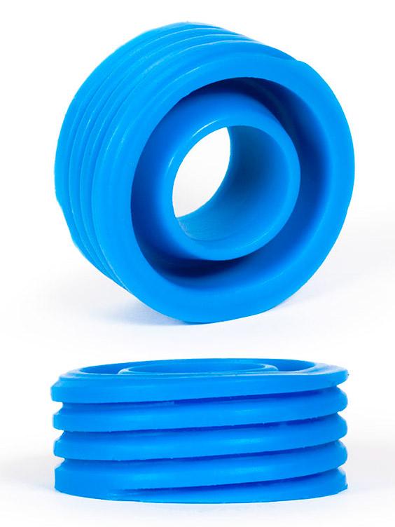 Burning Wheels 100% Silicone Cockring CK12 Blue