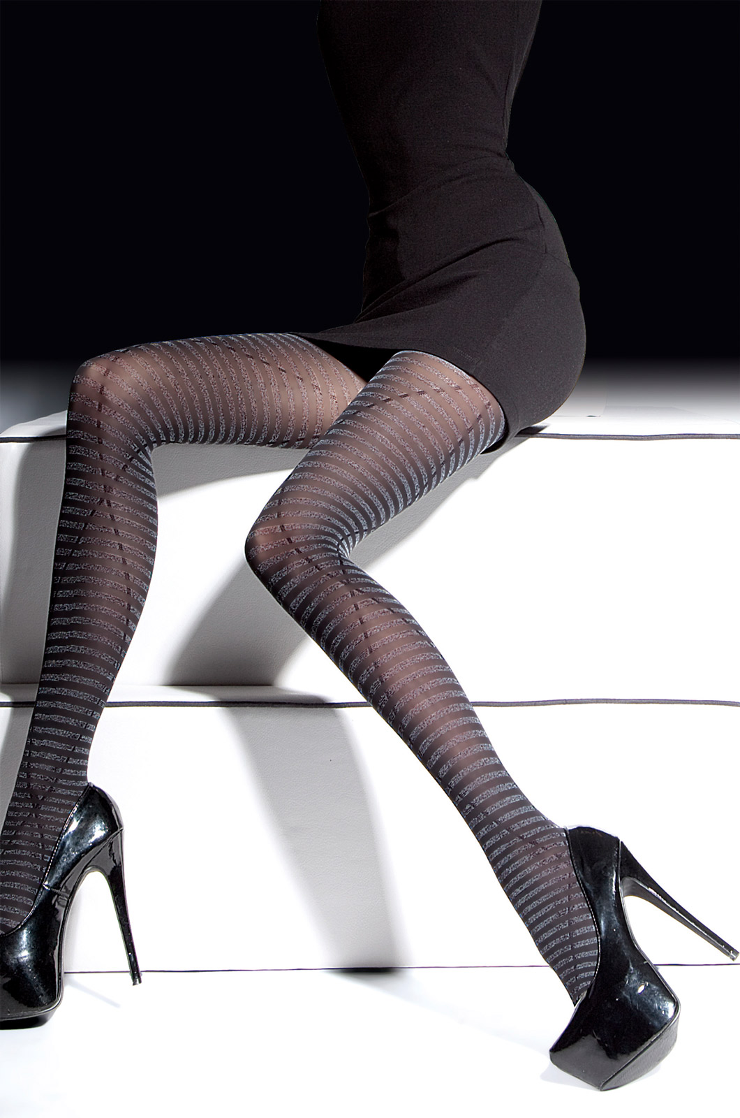 Fiore - Patterned Tights Febe Blueberry