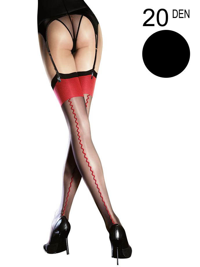 Fiore - Sheer Stockings Anais Black