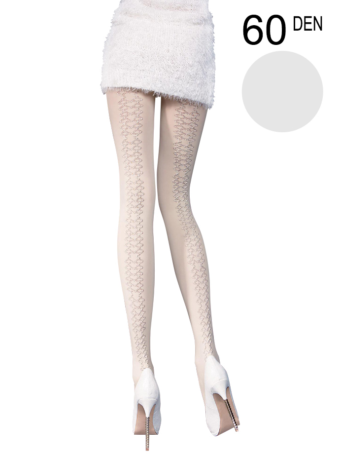 Fiore - Patterned Tights Artemida Light Grey