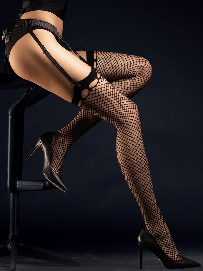 Fiore - Fishnet Stockings Burlesque Black