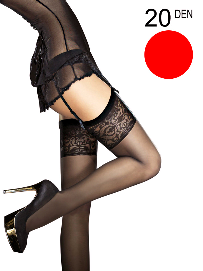 Fiore - Sheer Stockings Mirage Red