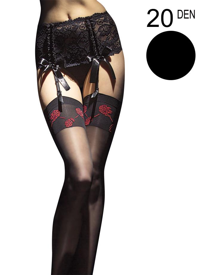 Fiore - Sheer Stockings Sabado Black