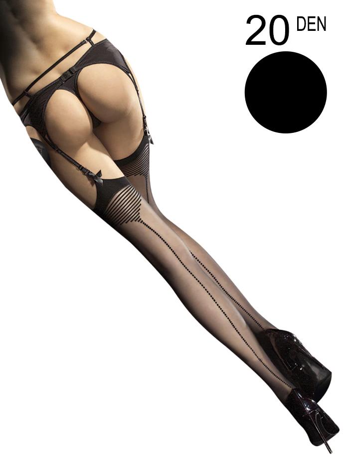Fiore - Sheer Stockings Tempesta Black