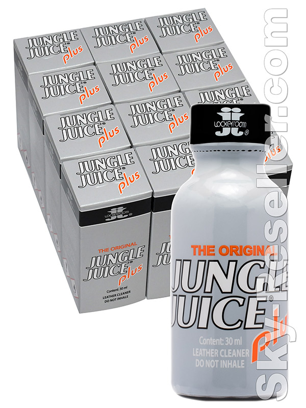BOX JUNGLE JUICE PLUS - 12 x big round bottle
