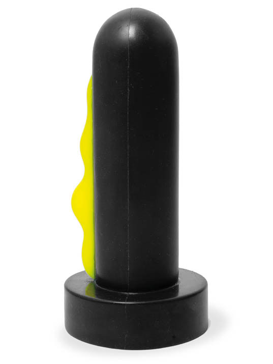 Keep Burning Rocket Dildo Black/Yellow