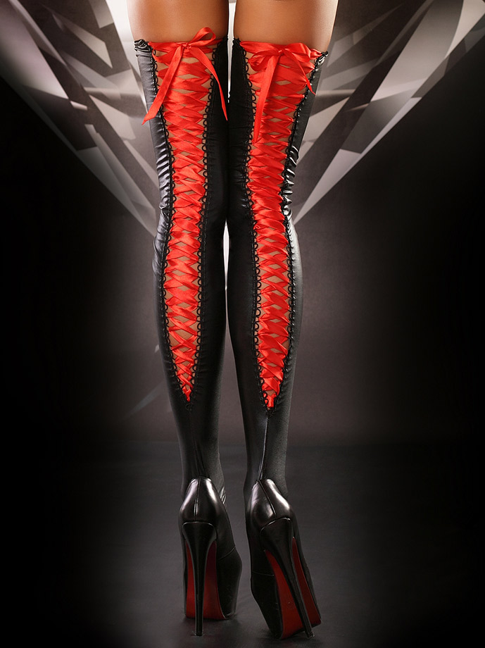 Lolitta - Lacing Stockings Red