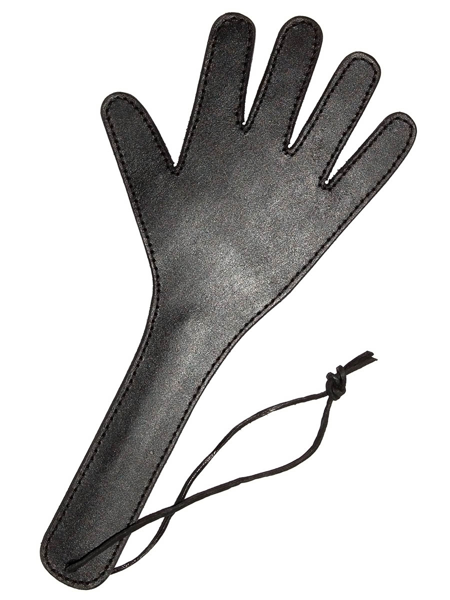 Hand Spanker Black Leather