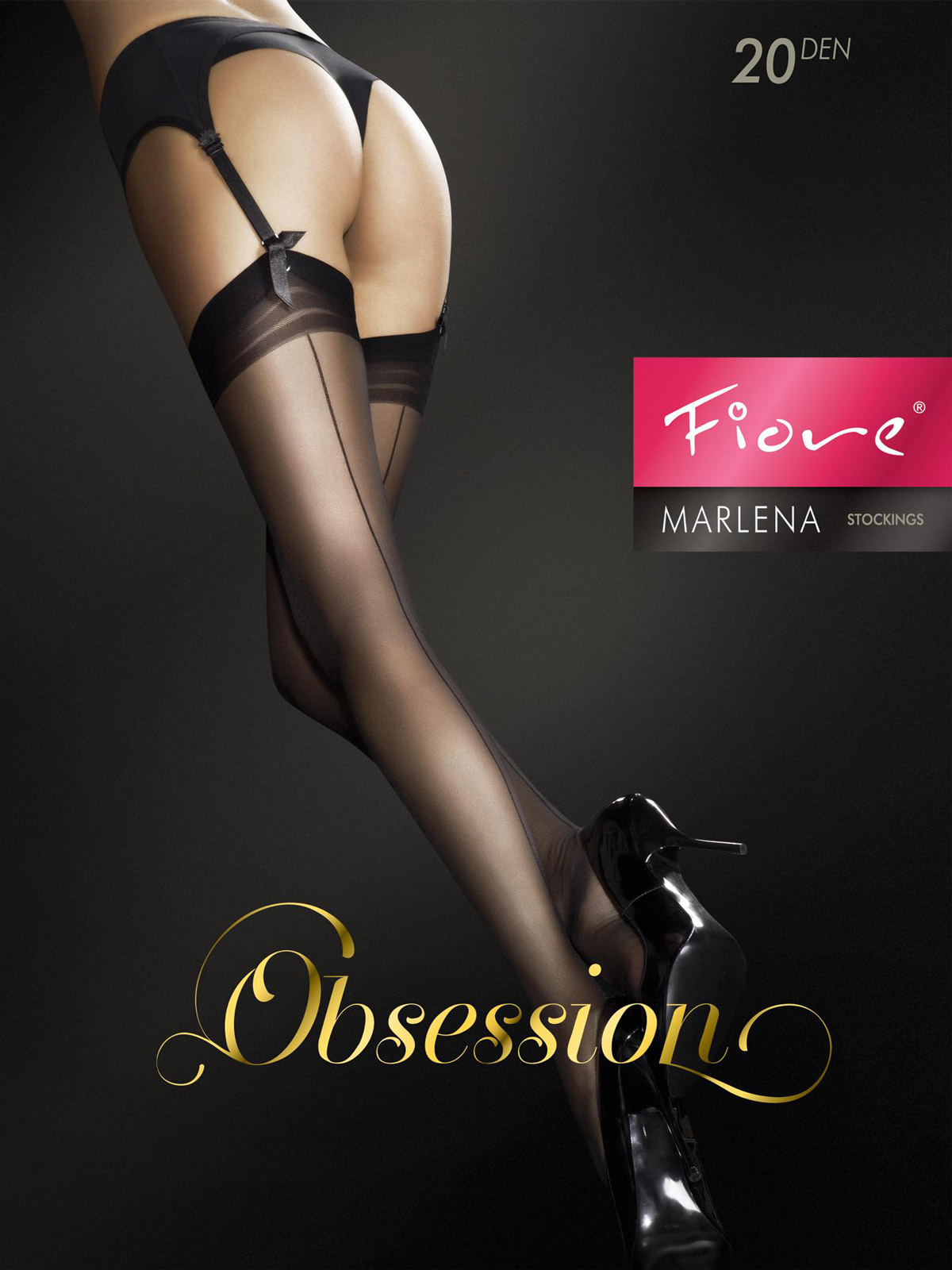 Fiore - Sheer Stockings Marlena Black