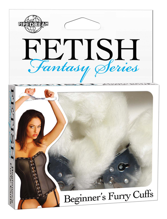 Fetish Fantasy - Beginners Furry Cuffs - White