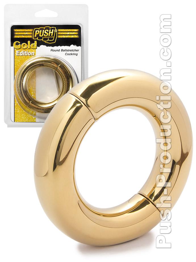 Push Gold Edition - Round Ballstretcher Cockring