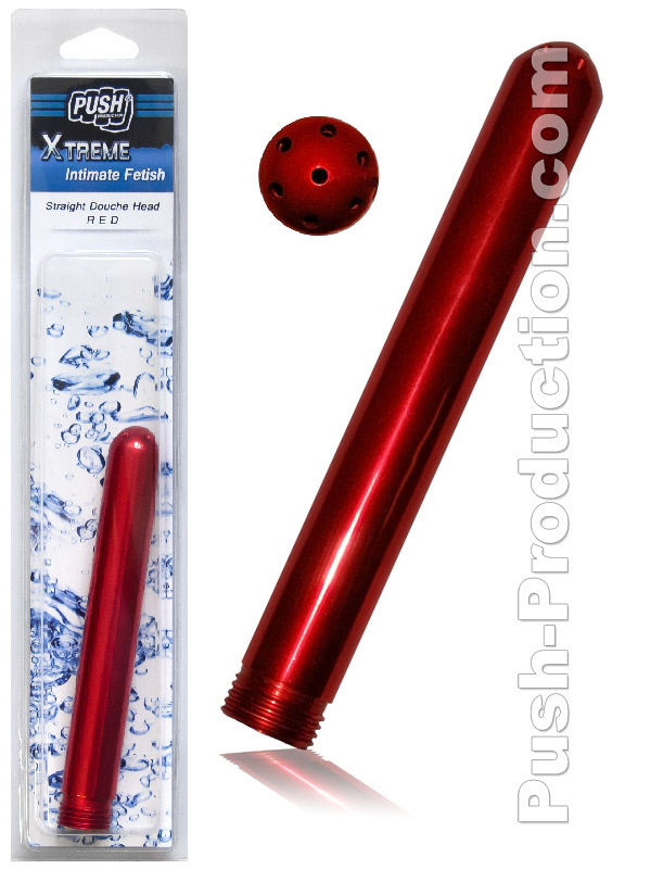 Push Xtreme - Straight Douche Head - Red