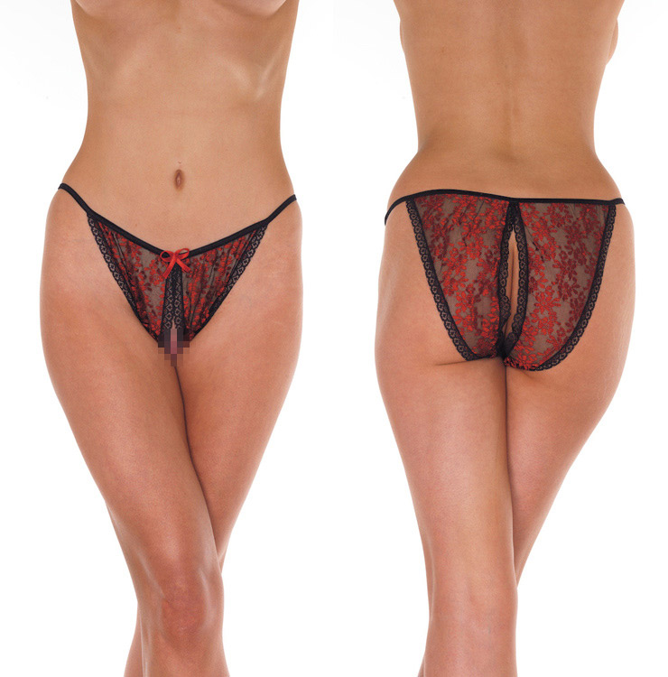Open Tanga - black/red - One Size
