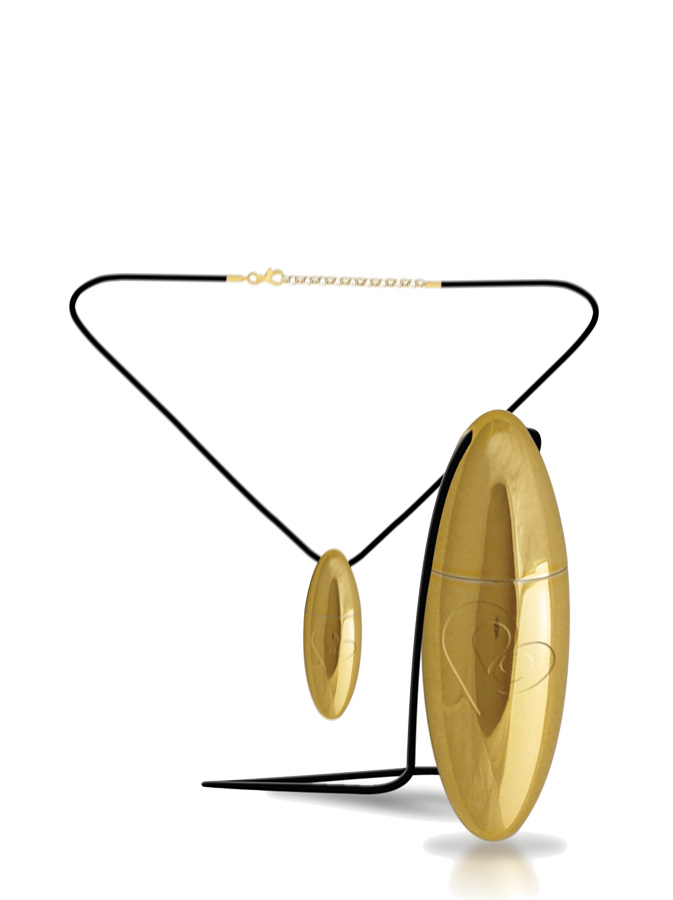 RO-VAL Necklace Bullet gold vibrator