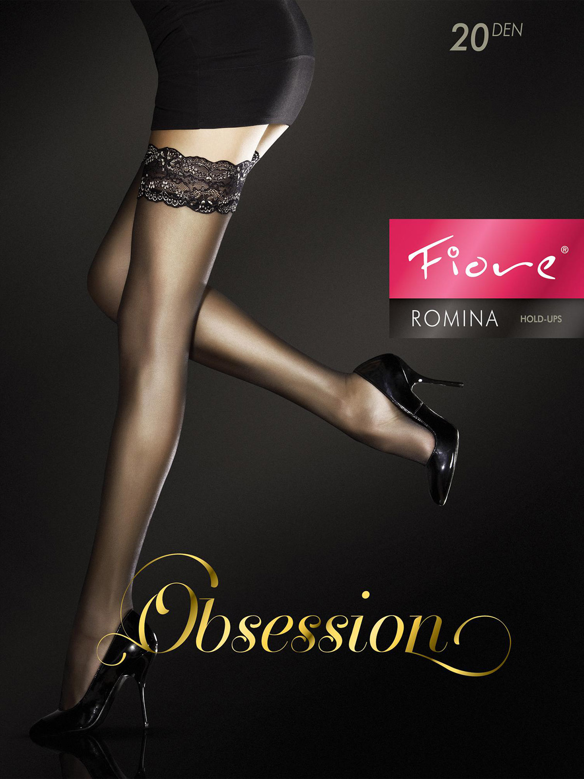 Fiore - Sheer Hold-Ups Romina Chocolate