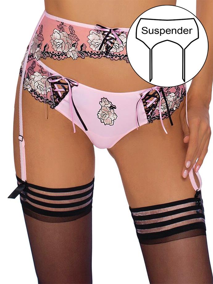 Roza - Stockings Belt Natalia Pink