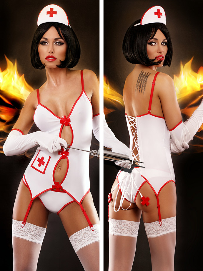 Lolitta - Sexy Nurse Dessous Costume Set