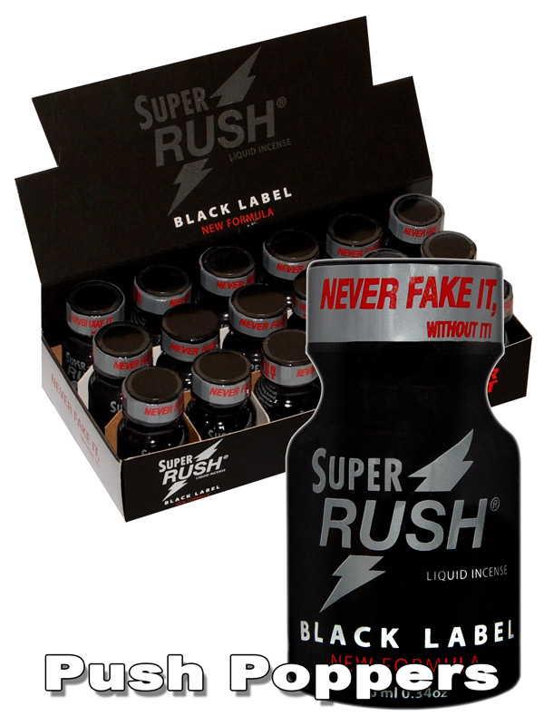 BOX SUPER RUSH BLACK - 18 x small