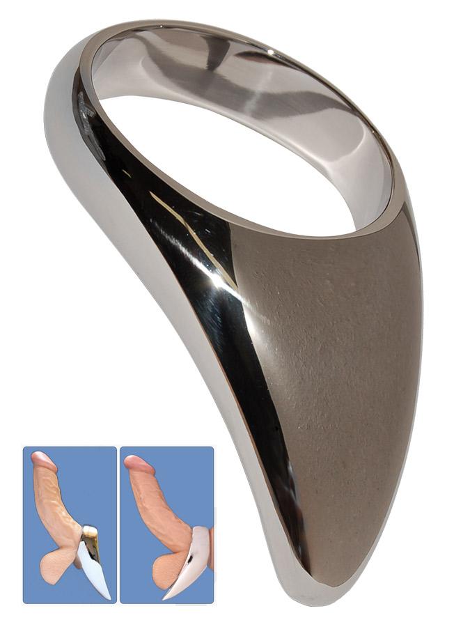 Stainless Steel Teardrop Cock Ring - 55mm