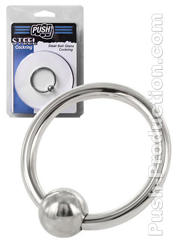 Push Steel - Steel Ball Glans Cockring