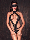 Sexy black Bodysuit ouvert Alexandra by Anais Lingerie