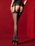 Fiore - Suspender Tights Amore Mio Black